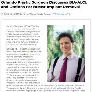 Dr. Jon Paul Trevisani Sheds Light on Breast Explant Surgery